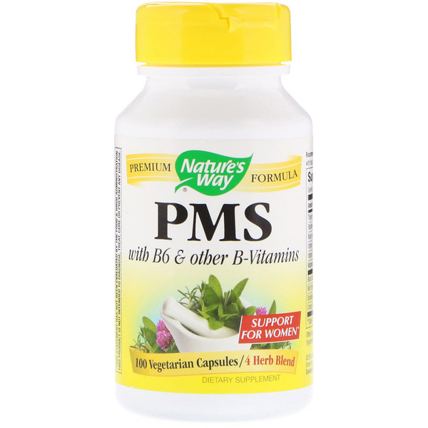 PMS with B6 & Other B-Vitamins, 100 Vegetarian Capsules