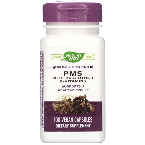 Nature's Way, PMS with B6 & Other B-Vitamins, 100 Vegan Capsules