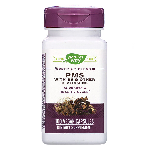 Nature's Way, PMS with B6 & Other B-Vitamins, 100 Vegan Capsules
