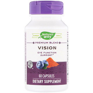Nature's Way, Vision, Premium Blend, 60 Capsules