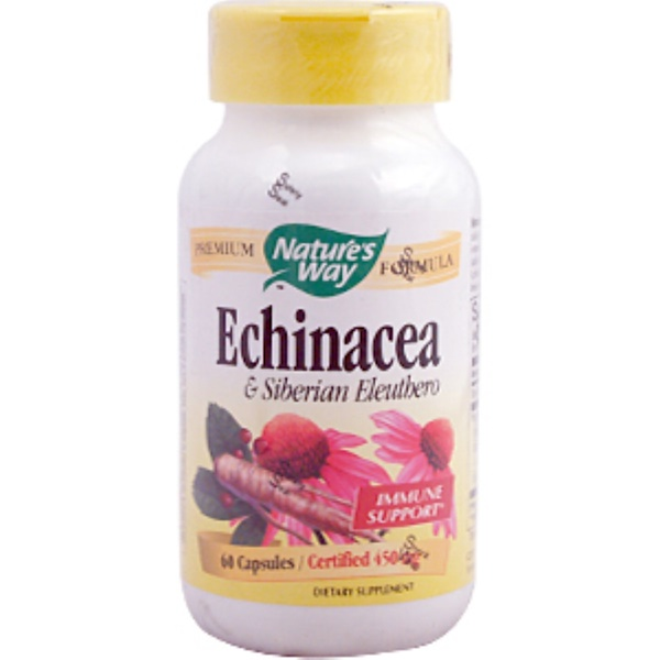 Nature's Way, Echinacea & Siberian Eleuthero, 450 mg, 60 Capsules (Discontinued Item)