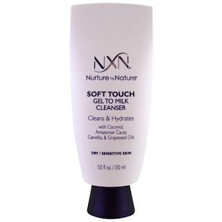 NXN, Nurture by Nature, Soft touch جل بمظهر الحليب مطهر، للبشرة الجافة / الحساسة، 5 أوقية (150 مل)