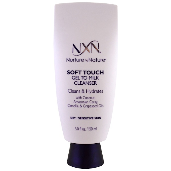 NXN, Nurture by Nature, Limpador toque suave gel a leite, Pele seca / sensível, 5 fl oz (150 ml) (Discontinued Item)