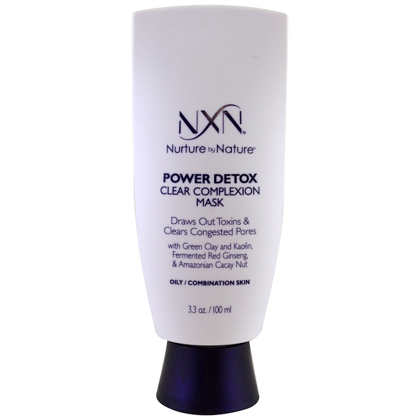 NXN, Nurture by Nature, Power Detox Clear Complexion Mask, Oily / Combination Skin, 3.3 oz (100 ml0