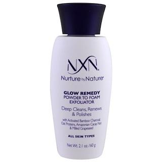 NXN, Nurture by Nature, Glow Remedy, Powder to Foam Exfoliator, All Skin Types, 2.1 oz (60 g)