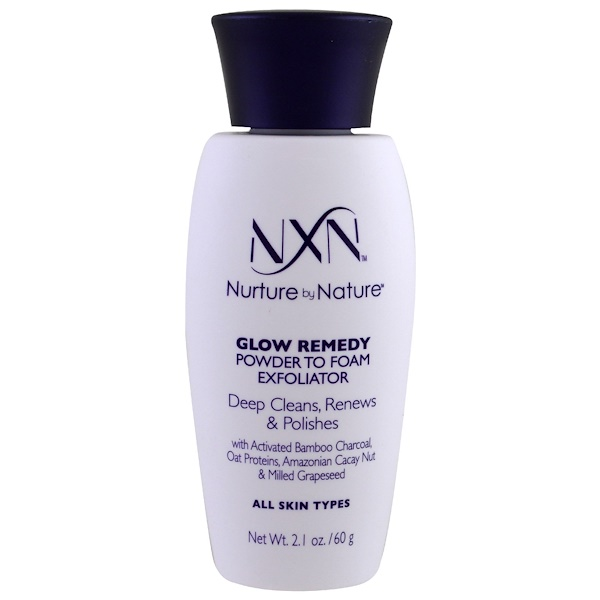 NXN, Nurture by Nature, Glow Remedy Powder to Foam Exfoliator, All Skin Type, 2.1 oz (60 g)