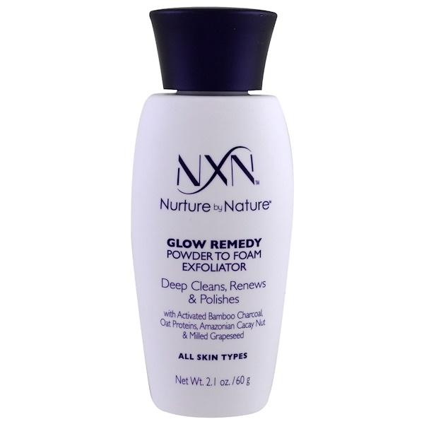 NXN, Nurture by Nature, Glow Remedy, Powder to Foam Exfoliator, All Skin Types, 2.1 oz (60 g) (Discontinued Item)