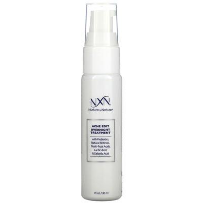 NXN, Nurture by Nature Acne Edit, Overnight Treatment, 1 fl oz (30 ml)