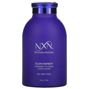 NXN, Nurture by Nature, Glow Remedy, Powder To Foam Exfoliator, 1.2 fl oz (35 ml)