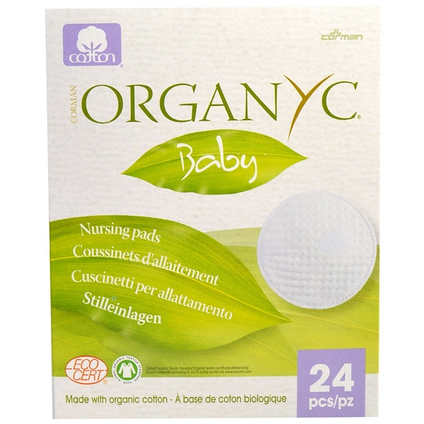Organyc, Bebé, protectores de lactancía, 24 piezas