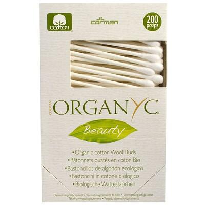 Organyc Beauty, Органические хлопковые ватные палочки, 200 штук