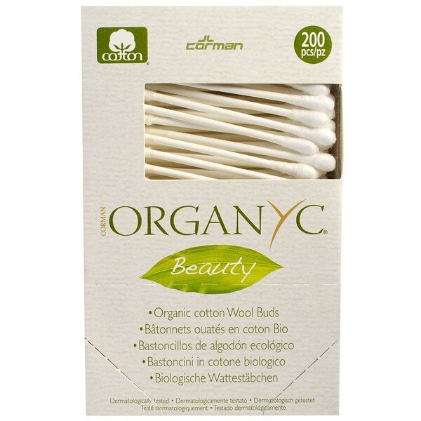 Organyc, Beauty, Organic Cotton Wool Buds, 200 Pieces