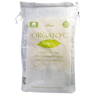 Organyc, Organic Beauty Cotton Balls, 100 Pieces