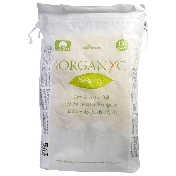 Organyc, Organic Beauty Cotton Balls, 100 Pieces