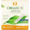 Organyc, Organic Tampons, Compact, Super Plus, 16 Tampons
