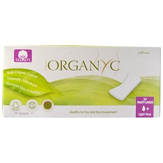 Organyc, Organic Cotton Panty Liners, Light Flow, 24 Panty Liners