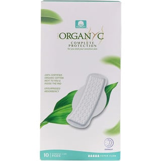 Organyc, Organic Cotton Pads, Super Flow, 10 Pads