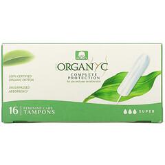 Organyc, 有機衛生棉條,特多量,16 條