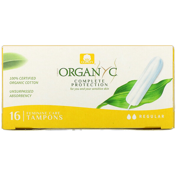Organic Tampons, Regular, 16 Tampons