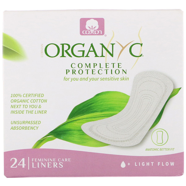 Organic Cotton Folded Panty Liners, Light Flow, 24 Panty Liners