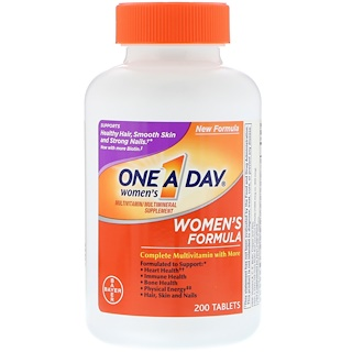 One-A-Day, مركب خاص بالنساء، مكمل غذائي يحتوي على فيتامينات متعددة/ معادن متعددة، 200 حبة