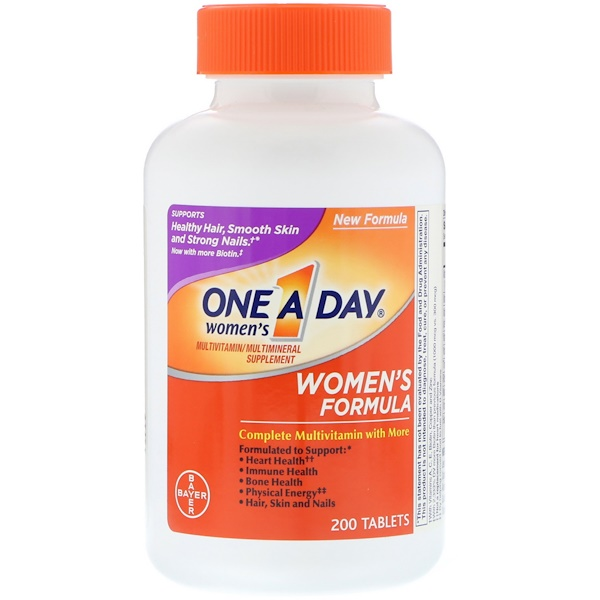 One-A-Day, Women's Formula, Multivitamin/Multimineral Supplement, 200 Tablets