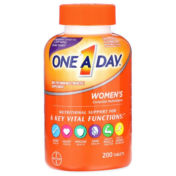 One-A-Day, Women's Complete Multivitamin, 200 Tablets