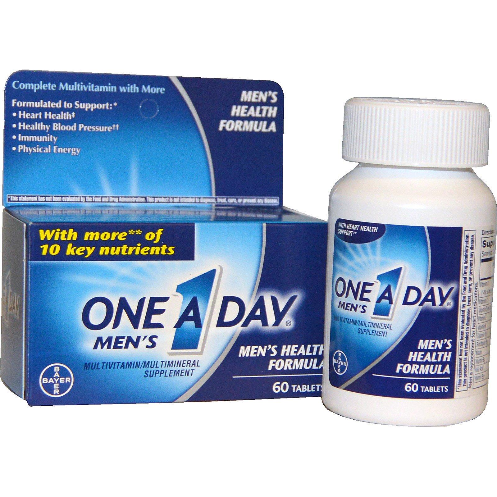 One-A-Day, One A Day Men's, формула здоровья для мужчин, мультивитамины/мультиминералы, 60 таблеток