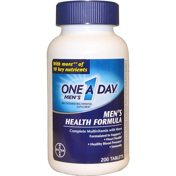 One-A-Day, One A Day Mens, 男性健康配方, 200 片