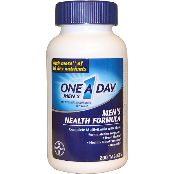 One-A-Day, Men's Health Formula, Multivitamin/Multimineral, 200 Tablets