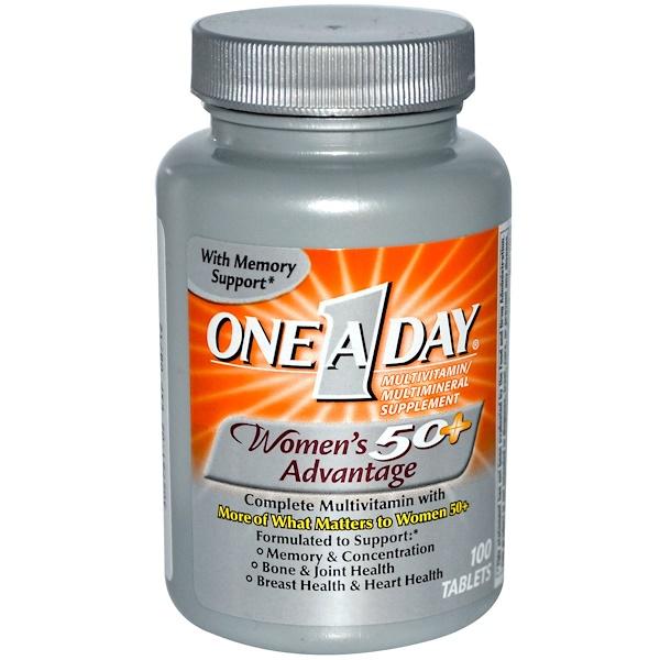 One-A-Day, Превосходная мультивитаминная и мультиминеральная добавка для женщин от 50 лет 100 таблеток (Discontinued Item)