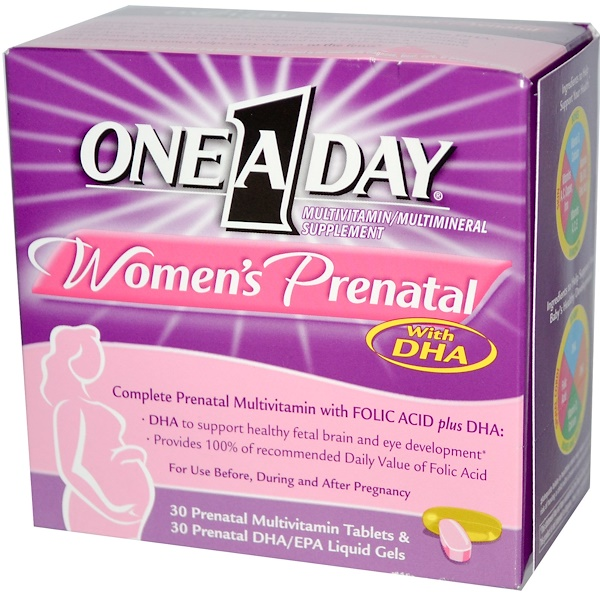 One-A-Day, Woman's Prenatal with DHA, 30 Tablets/30 Liquid Gels (Discontinued Item)