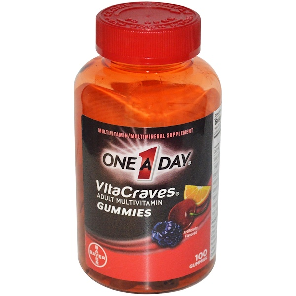 One-A-Day, VitaCraves,  Adult Multivitamin Gummies, 100 Gummies (Discontinued Item)