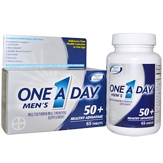 One-A-Day, Men's, 50+ Healthy Advantage, Multivitamin/Multimineral Supplement, 65 Tablets