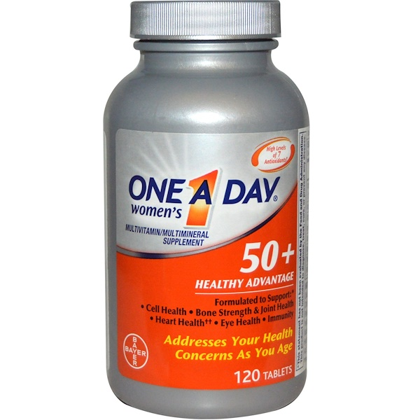 One-A-Day, Women's 50+ Healthy Advantage, Multivitamin/Multimineral Supplement, 120 Tablets (Discontinued Item)