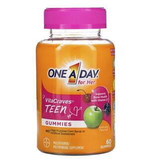 One-A-Day, VitaLeckerbissen, für sie, eine pro Tag, Teen-Multi, 60 Fruchtgummis