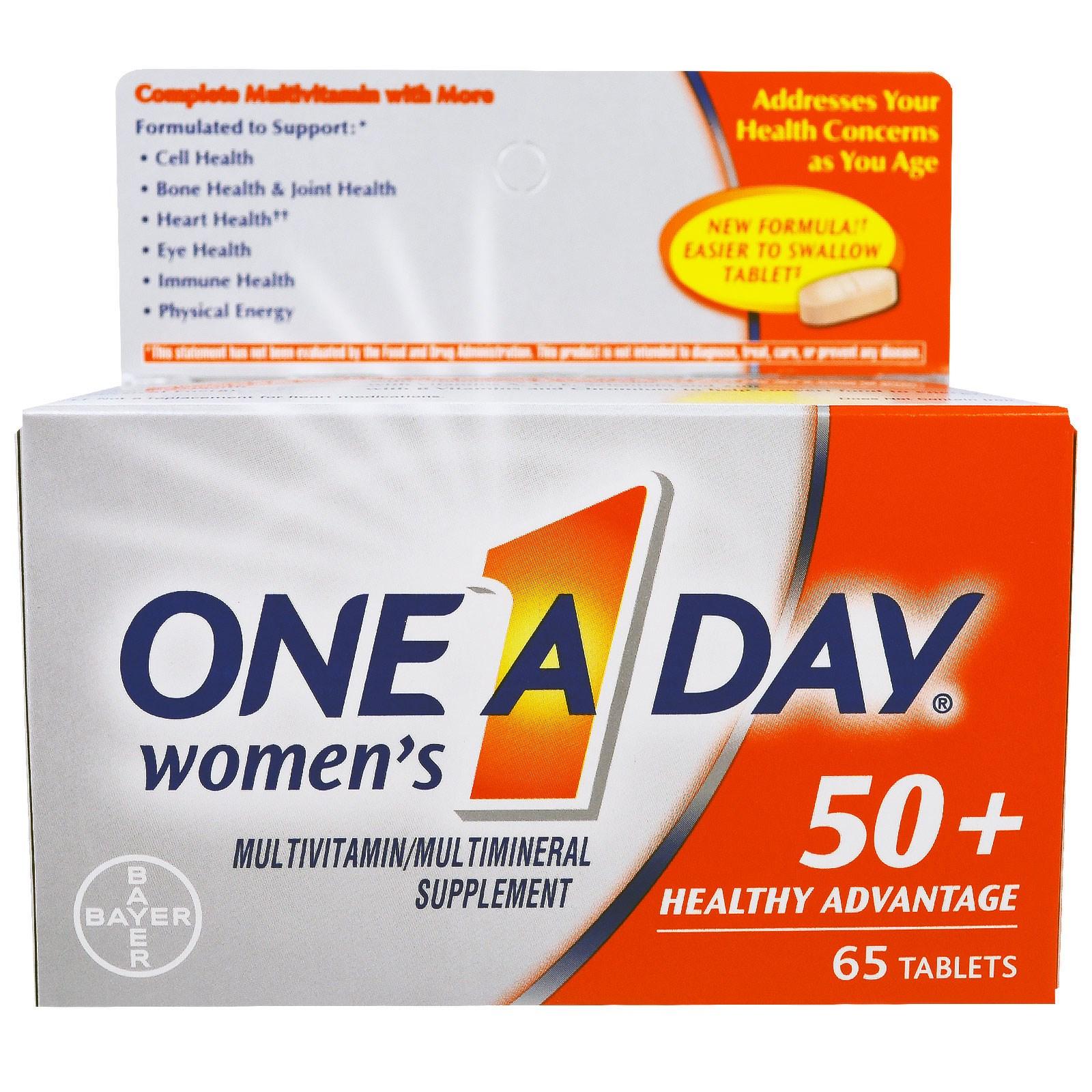 One-A-Day, Раз в день, для женщин 50+, польза для здоровья, 65 таблеток