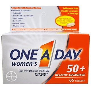 One-A-Day, Women's 50+, Healthy Advantage, Multivitamin/Multimineral Supplement , 65 Tablets