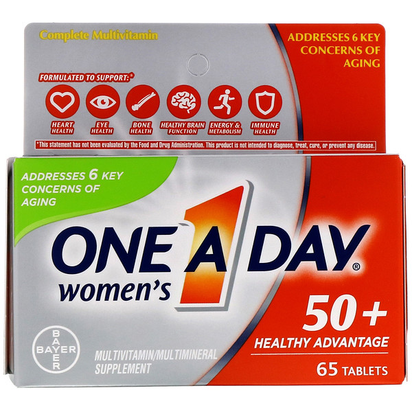 One-A-Day, Women's 50+, Healthy Advantage, 65 Tablets