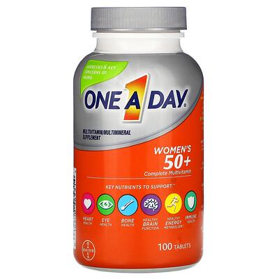 Купить One-A-Day полноценный мультивитаминный комплекс для женщин старше 50лет, 100таблеток