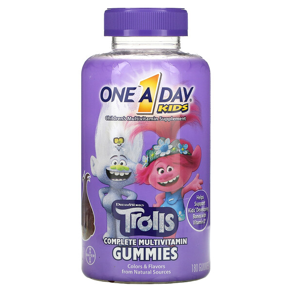 Kid's Complete Multivitamin Gummies, Trolls, 180 Gummies