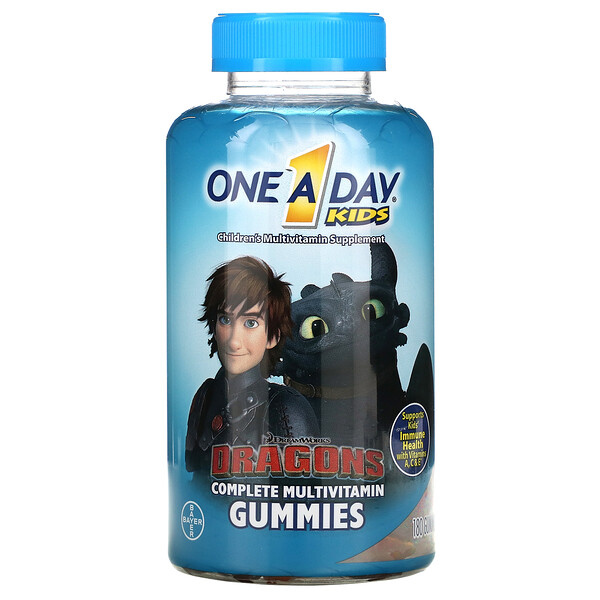 One-A-Day, Kids Complete Multivitamin, Dragons, 180 Gummies