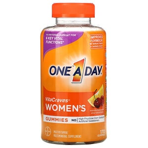One-A-Day, Women's VitaCraves, Multivitamin/MultiMineral Supplement, 170 Gummies