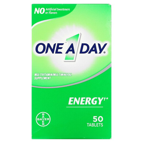 Energy, Multivitamin/ Multimineral Supplement, 50 Tablets