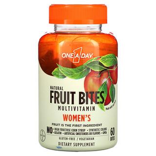 One-A-Day, Women's, Fruit Bites Multivitamin, Natural Fruit, 60 Bites