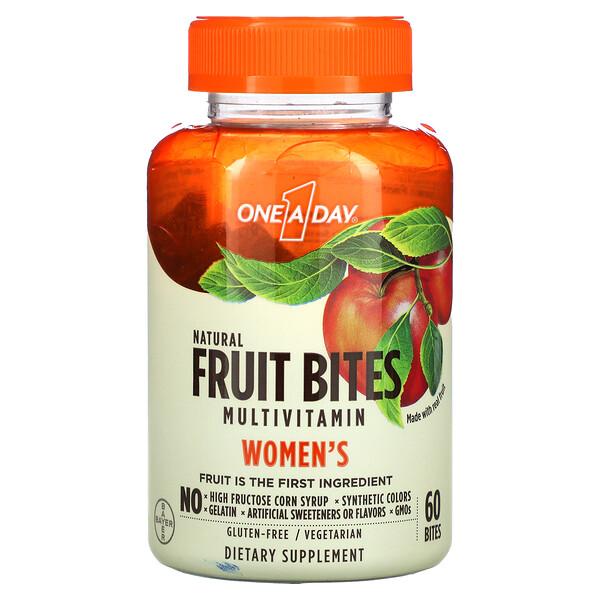 Women's, Fruit Bites Multivitamin, Natural Fruit, 60 Bites