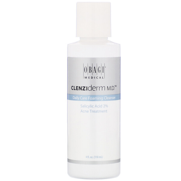 Obagi, CLENZIderm M.D., Daily Care Foaming Cleanser, 4 fl oz (118 ml) (Discontinued Item)