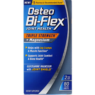 Osteo Bi-Flex, Joint Health, Triple Strength + Magnesium, 80 Coated Tablets