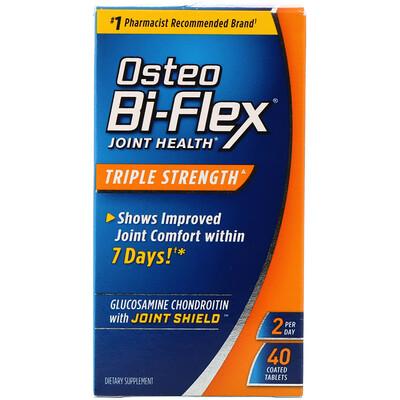Osteo Bi-Flex Здоровье суставов, тройная сила, 40 таблеток в оболочке  - Купить