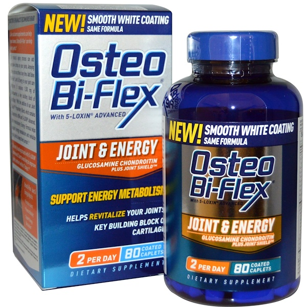 Osteo Bi-Flex, Joint & Energy, Glucosamine Chondroitin Plus Joint Shield, 80 Coated Caplets (Discontinued Item)